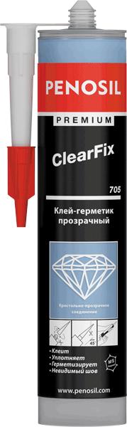 Penosil Premium ClearFix 705 клей-герметик прозрачный (290 мл) бесцветный