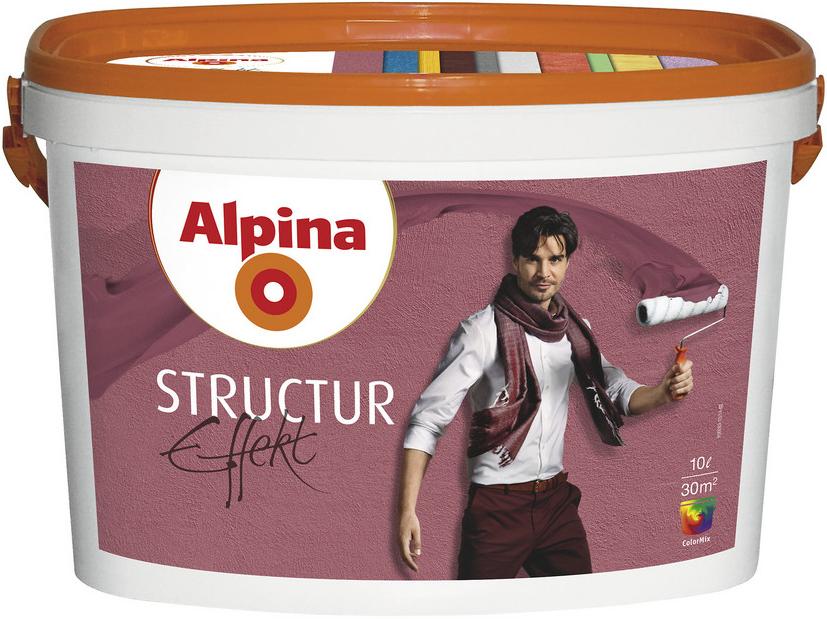 Alpina Structur Effekt дисперсионная масса (10 л) белая мелкозернистость