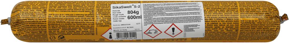 Sika Sikaswell S-2 герметик набухающий при контакте с водой (600 мл) красный