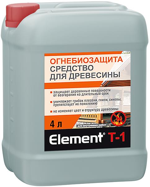 Alpa Alpa Element T-1 Огнебиозащита средство для древесины (4 л) бесцветное