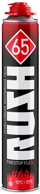 Rush Firestop Flex 65 огнестойкая профессиональная монтажная пена (1000 мл) пистолетная