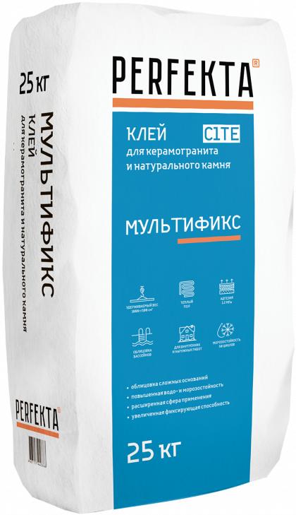 Perfekta Мультификс Белый клей для стекла, мозаики и камня (25 кг)