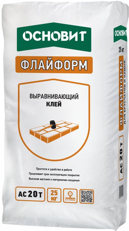 Основит Флайформ AC 20 T выравнивающий клей (25 кг)