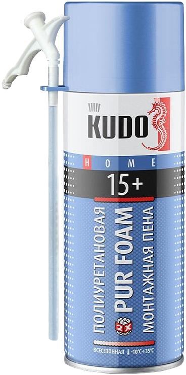 Kudo Home Pur Foam 15+ полиуретановая монтажная пена (520 мл) ручная
