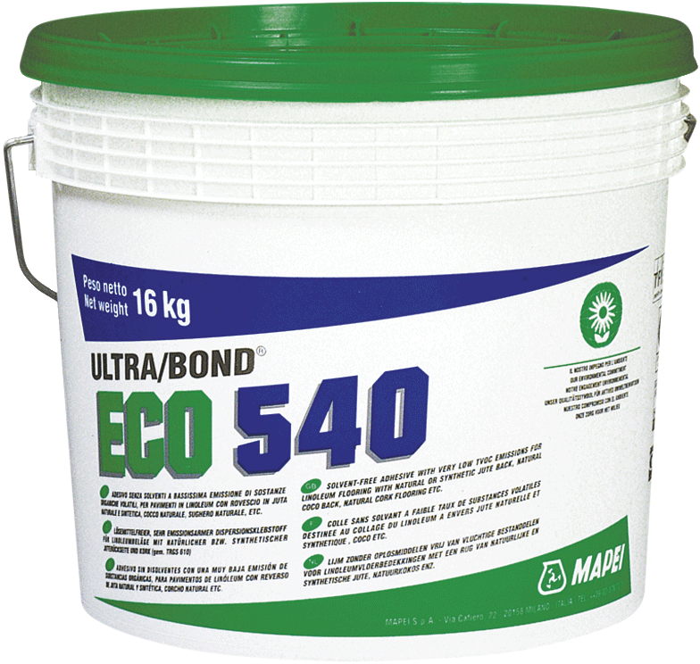 Mapei Ultrabond Eco 540 клей для укладки ковролина и линолеума (16 кг)