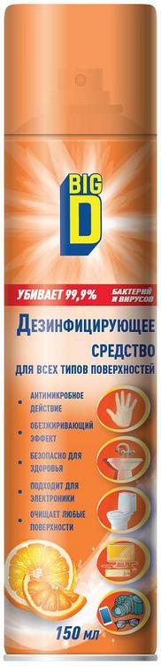 Big D дезинфицирующее средство для всех типов поверхностей (150 мл)