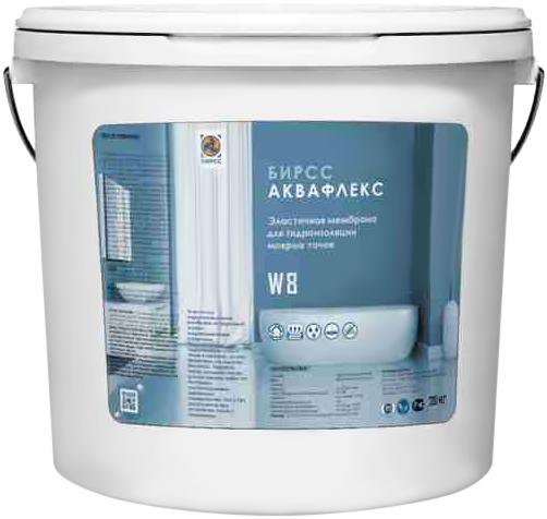 Бирсс Аквафлекс эластичная мембрана для гидроизоляции мокрых точек (20 кг) белая