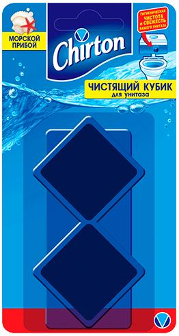 Чиртон Морской Прибой чистящий кубик для унитаза (100 г)