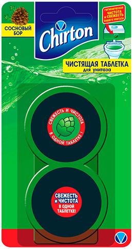 Чиртон Сосновый Бор чистящая таблетка для унитаза (100 г)