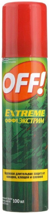 ОФФ Extreme аэрозоль от комаров клещей и слепней (100 мл)