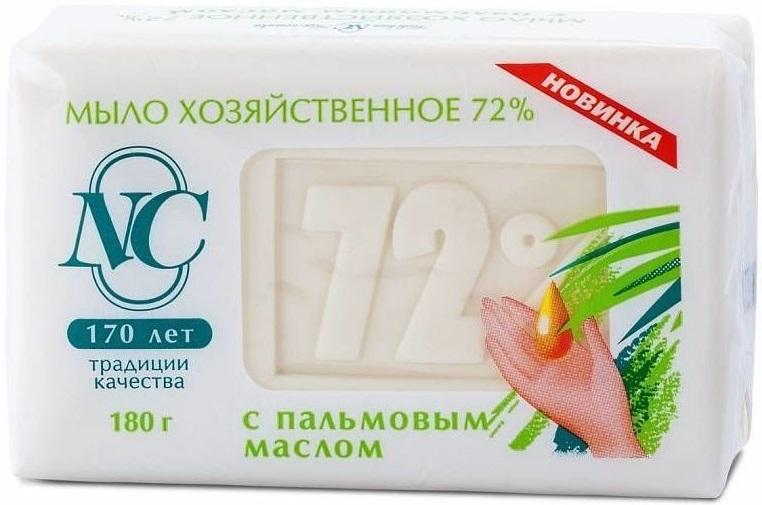 Невская Косметика 72% мыло хозяйственное с пальмовым маслом (180 г)