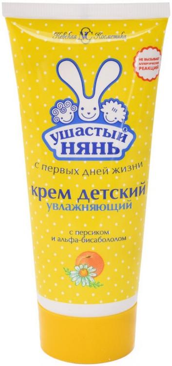Ушастый Нянь с Персиком и Альфа-Бисабололом увлажняющий детский крем (100 мл)