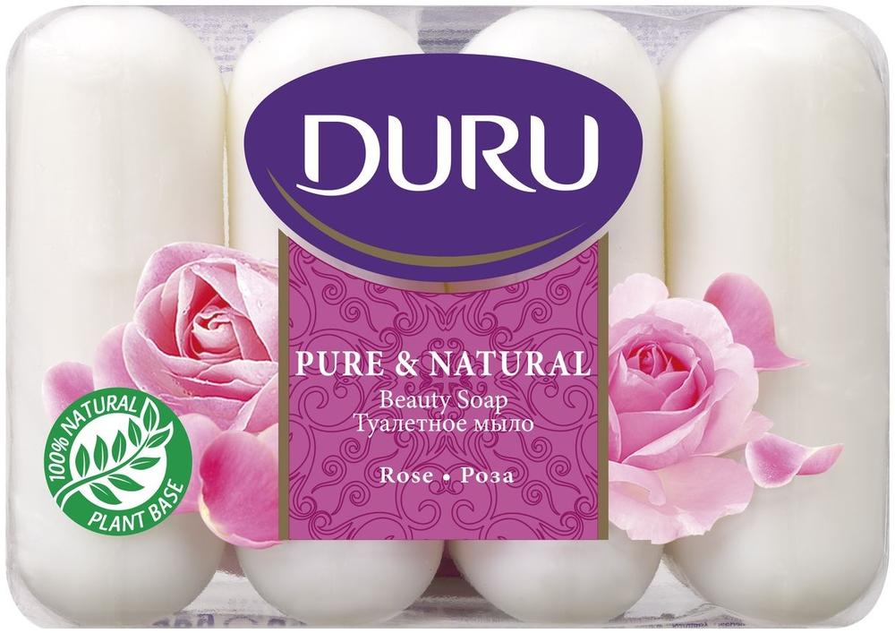 Duru Pure & Natural Роза мыло туалетное (1 блок)