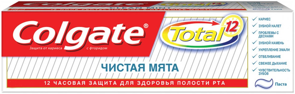 Колгейт Колгейт Total Чистая Мята зубная паста-гель (75 мл)