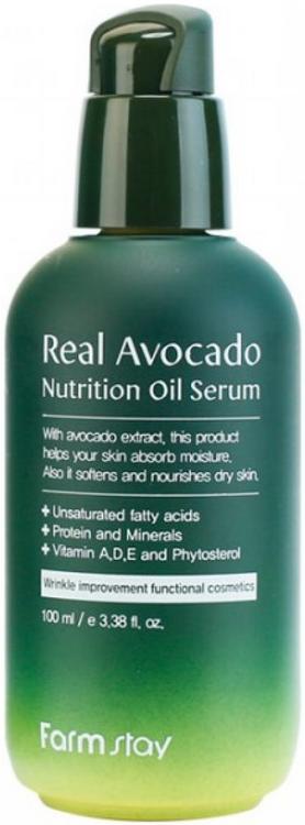 Farmstay Real Avocado Nutrition Oil Serum сыворотка питательная с маслом авокадо (100 мл)