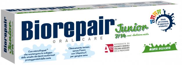 Biorepair Junior Menta Delicata зубная паста детская со вкусом сладкой мяты от 7-14 лет (50 мл)