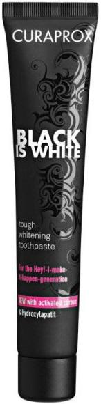 Curaprox Black is White зубная паста отбеливающая со вкусом лайма (90 мл)