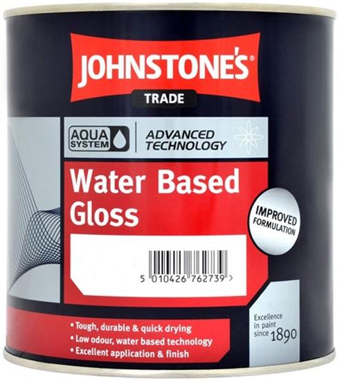 Johnstone's Aqua Water Based Gloss высокопрочная глянцевая краска (2.5 л) белая
