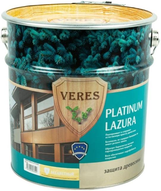 Veres Platinum Lazura защита древесины (9 л) бесцветная
