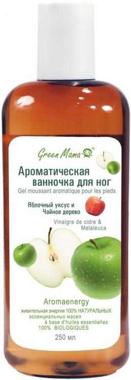 Green Mama Яблочный Уксус и Чайное Дерево ванночка ароматическая для ног (250 мл)