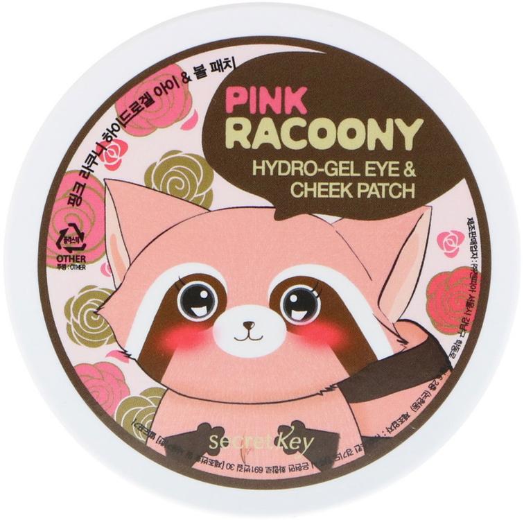 Secret Key Pink Racoony Hydrogel Eye & Cheek Patch патчи гидрогелевые для глаз и щек (60 патчей в банке)