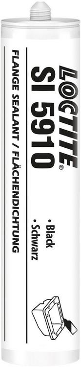 Локтайт SI 5910 силиконовый нейтральный клей-герметик (300 мл) черный
