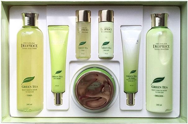 Deoproce Premium Green Tea Total Solution 5 Set уходовый набор для лица с экстрактом зеленого чая (1 набор)