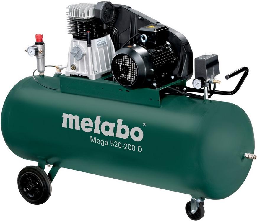 Metabo Mega 520-200 D поршневой компрессор (3000 Вт)