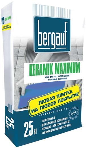 Bergauf Keramik Maximum Plus клей для всех видов плитки и сложных оснований (25 кг)