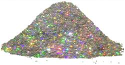 Bioplast Блеск голографические декоративные блестки-глиттер (10 г) серебро