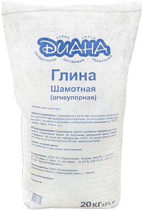 Диана глина шамотная огнеупорная (5 кг)