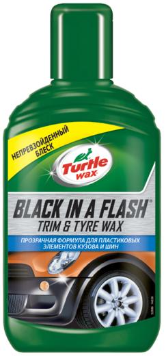 Turtle Wax Black in a Flash Trim & Tyre Wax черный лоск гель (300 мл)