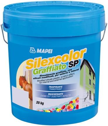 Mapei Silexcolor Graffiato SP декоративная штукатурка для создания эффекта короед (20 кг база P)
