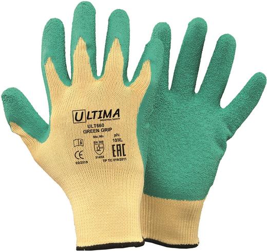 Перчатки трикотажные нейлоновые Ultima 660 Green Grip (10) смесовая пряжа (хлопок/полиэстер)