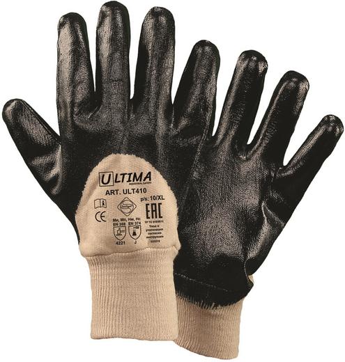 Перчатки с нитриловым покрытием Ultima 410 (10) 100% хлопок