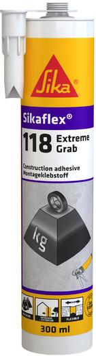 Sika Sikaflex-118 Extreme Grab высокопрочный клей (290 мл)
