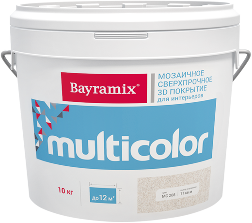 Bayramix Multicolor мозаичное сверхпрочное 3D покрытие для интерьеров (10 кг) МC207