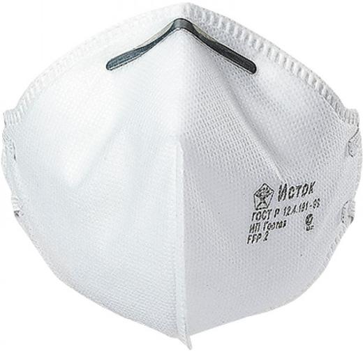 Полумаска фильтрующая противоаэрозольная Исток 1С (FFP1 NR до 4 ПДК)