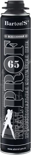 Barton's Real Prof 65 пена монтажная (750 мл) пистолетная