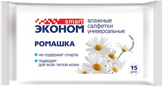 Влажные салфетки универсальные Smart Эконом Ромашка