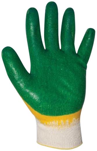 Перчатки х/б глубокий двойной облив T4P хлопчатобумажная ткань