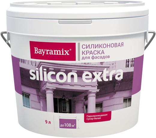 Bayramix Silicon Extra силиконовая краска для фасадов (2.7 л) белая