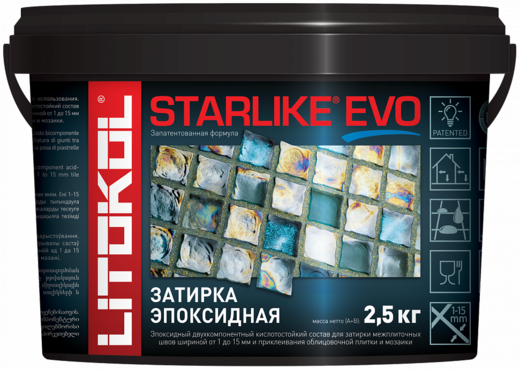 Литокол Starlike Evo затирка эпоксидная (5 кг) S.100