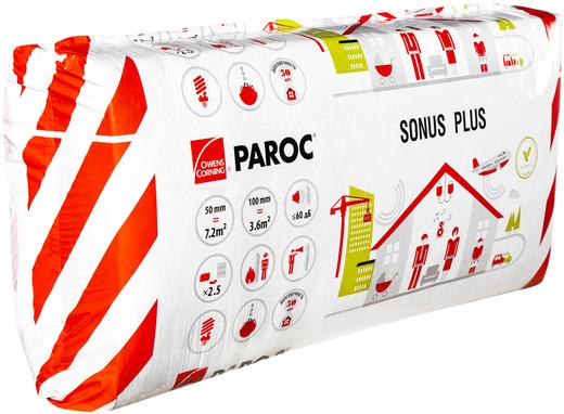 Paroc Sonus Plus негорючая плита из каменной ваты (0.6*1.2 м/100 мм)
