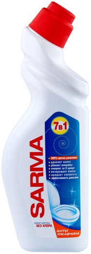 Сарма Антиржавчина антибактериальное средство для сантехники гель (750 мл)