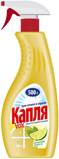 Капля VOX Цитрусовая Свежесть средство жидкое моющее для стекол и зеркал (500 г)