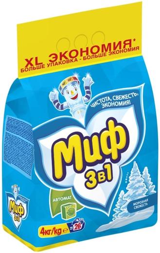 Миф Морозная Свежесть стиральный порошок (1 кг)