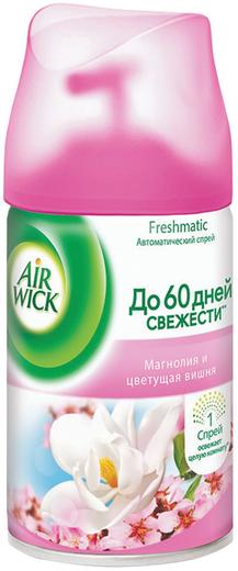 Air Wick Freshmatic Магнолия и Цветущая Вишня сменный балон к автоматическому освежителю воздуха (250 мл)