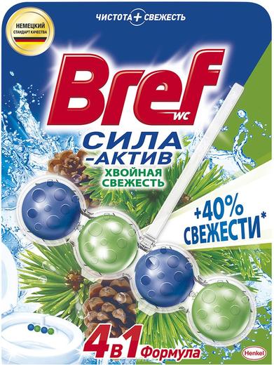 Бреф Сила-Актив Хвойная Свежесть подвесной туалетный блок (100 г)