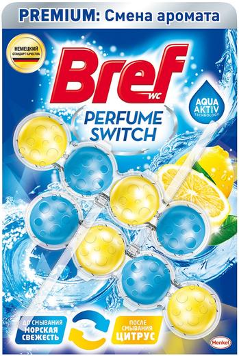 Бреф Premium Бреф Perfume Switch Морская Свежесть-Цитрус подвесной туалетный блок (50 г)